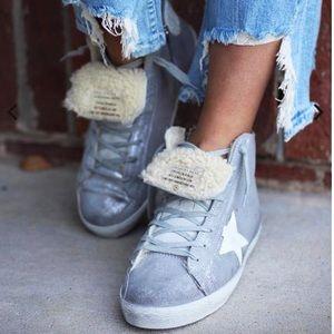 Golden Goose Francy Sneaker Silver/White Sherpa 5